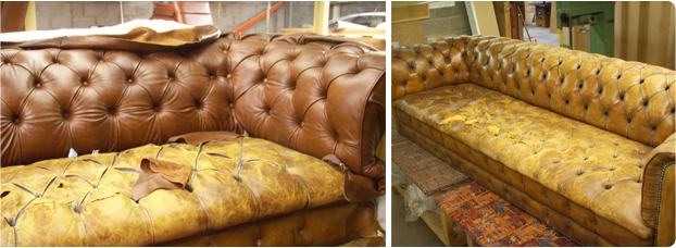 Phil James Upholstery Before After, How To Reupholster A Chesterfield Sofa
